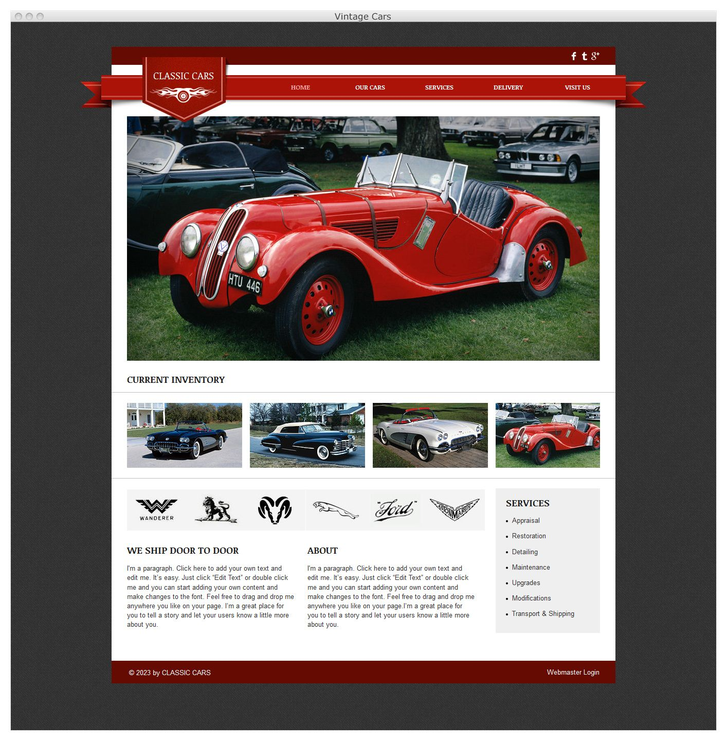 A classic HTML5 website in mint condition. Tune up the look and feel ...