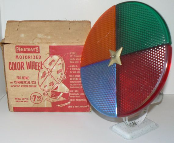 1950s Mid Century Penetray Motorized Color Wheel by KrauseHaus ...