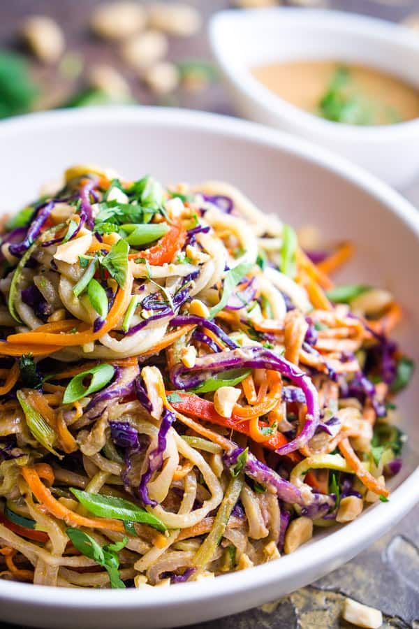 Thai Peanut Zucchini Noodles Recipe Zoodles Recipe In 2020 Zucchini Noodle Recipes Vegetarian Recipes Dinner Healthy Zoodle Recipes
