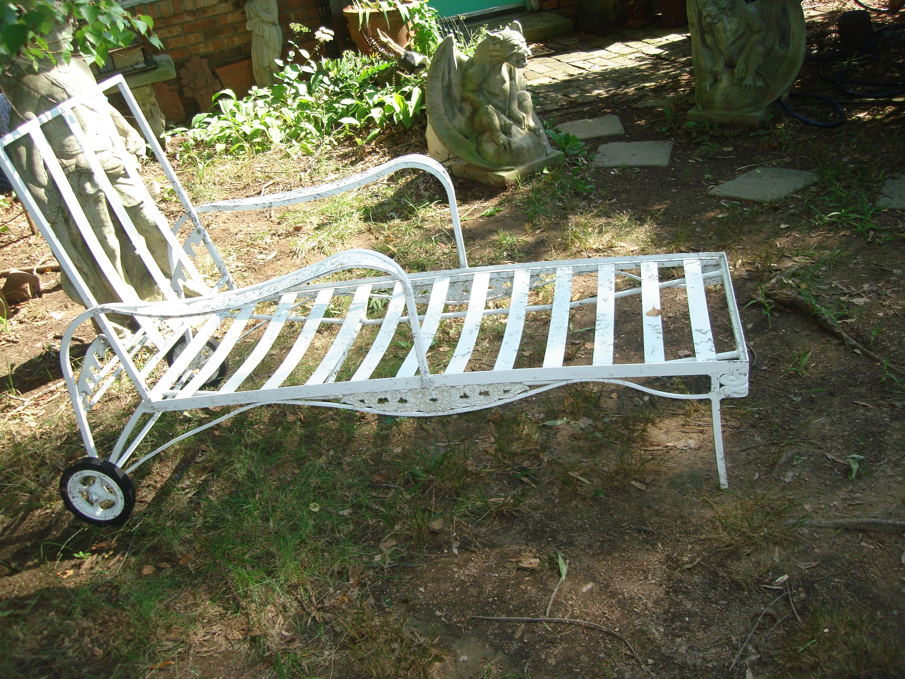 Antique metal outdoor furniture antique metal outdoor chaise