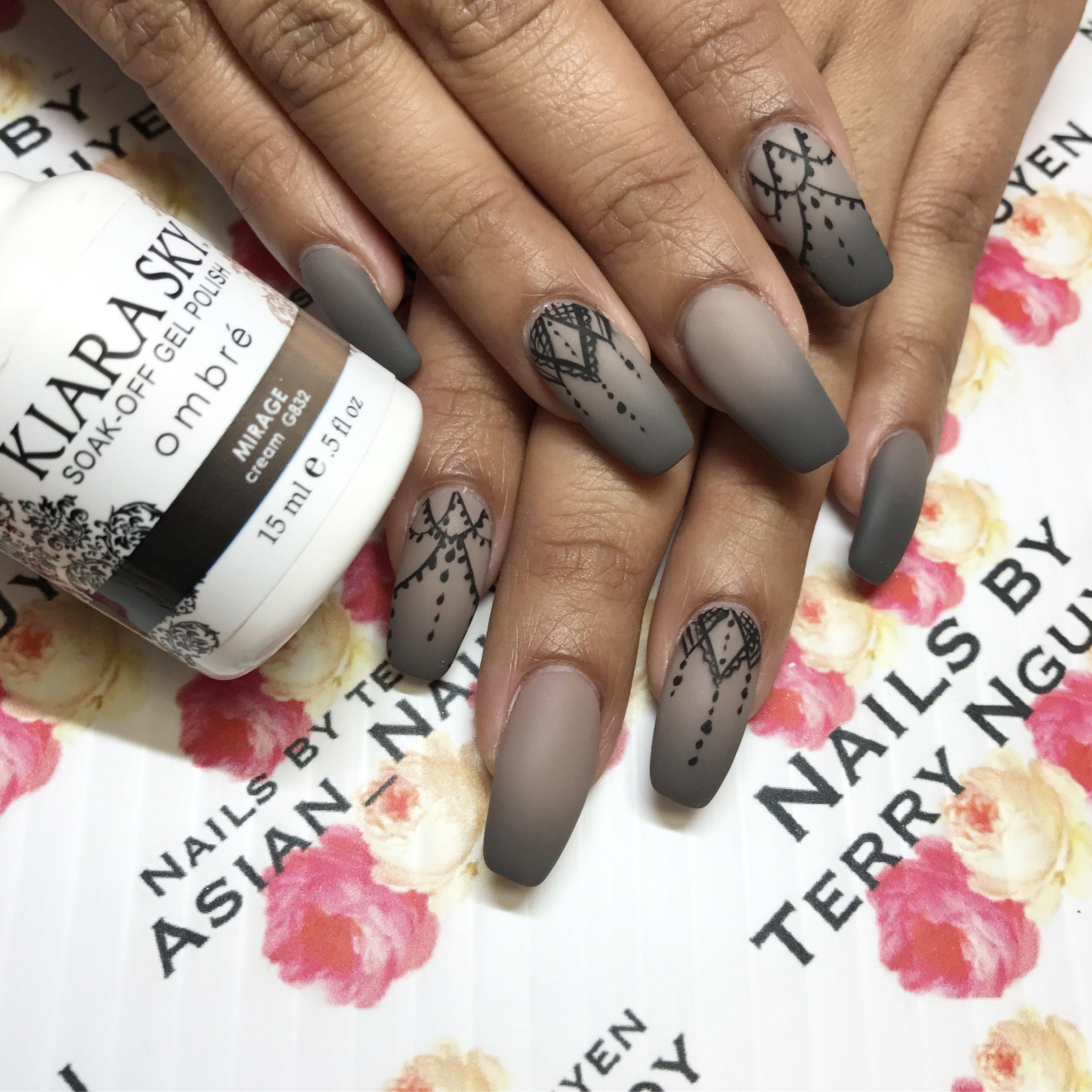 Matte ombré nails | Matte nails | Pinterest | Nail inspo, Makeup and ...