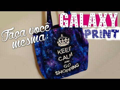 DIY: Estampa Galáxia | (Galaxy Print) - YouTube