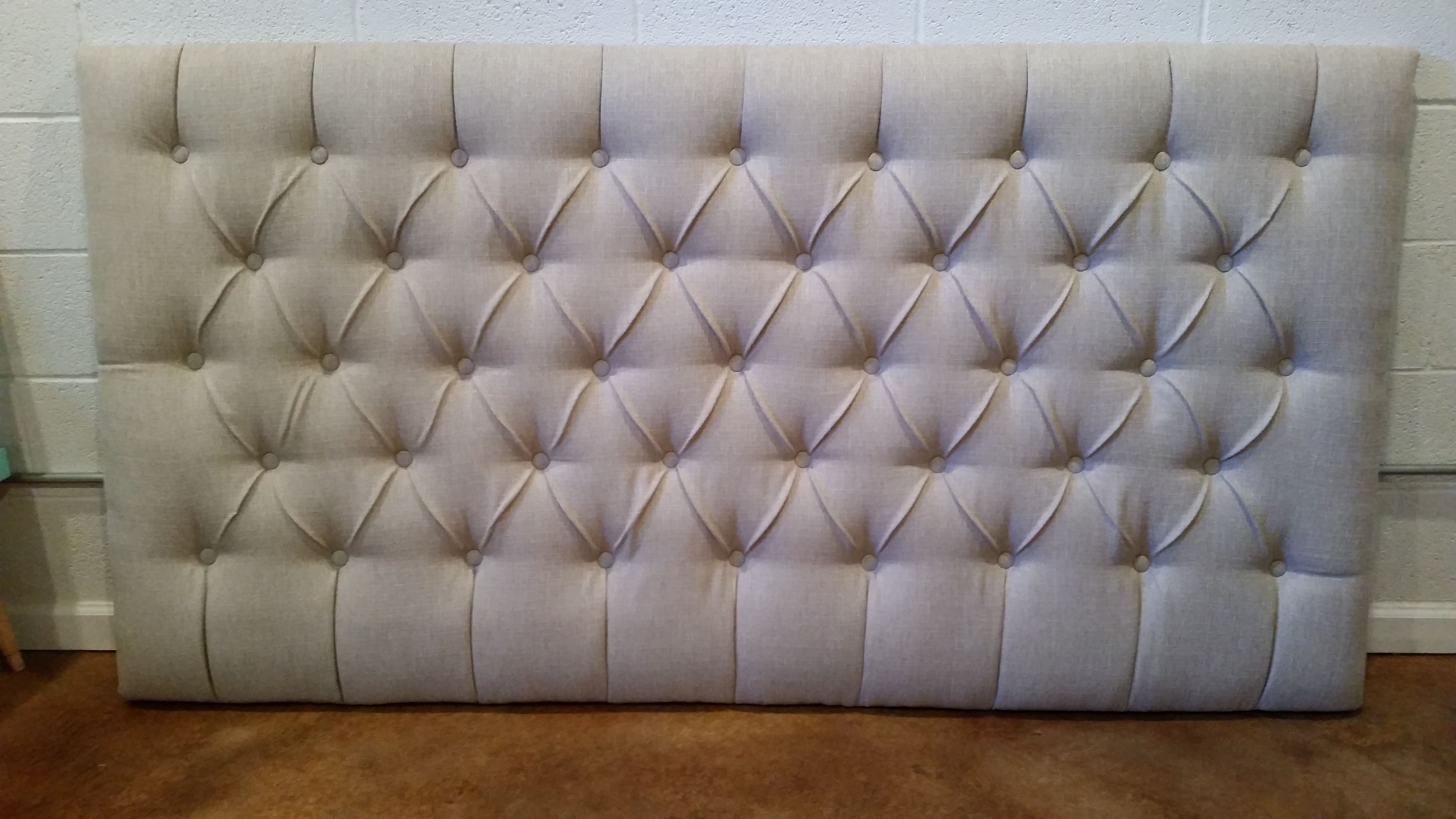 King size extra tall tufted upholstered headboard custom for How to make a tall headboard