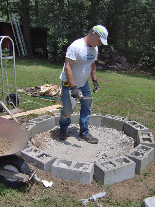 Firepit Project Outside Fire Pits Fire Pit Cinder Block Fire Pit