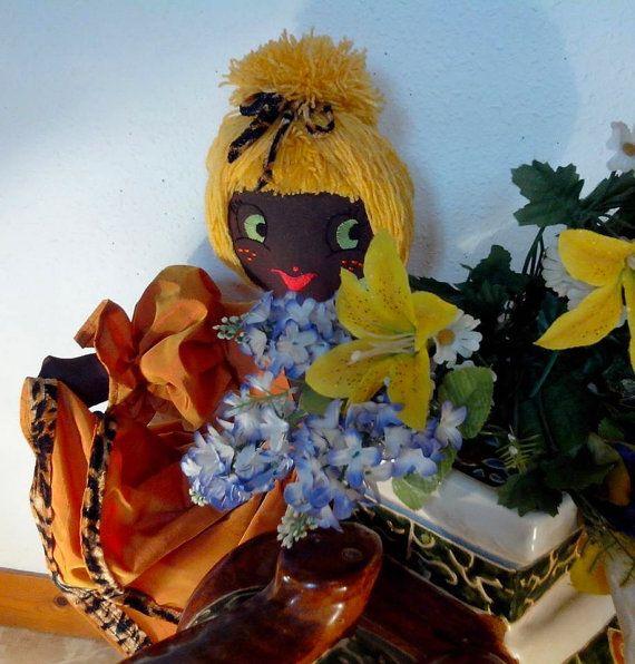 Puppe Vintage Die Romantisch ist Puppe Lumpen par PoupeesCollection