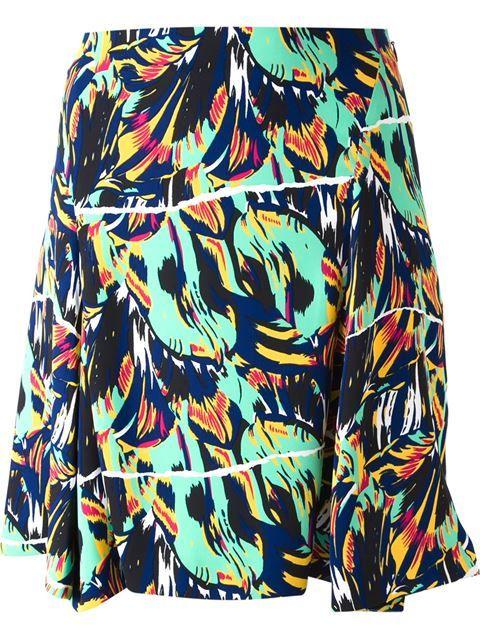 KENZO 'Torn Flowers' Jacquard Skirt. #kenzo #cloth #skirt
