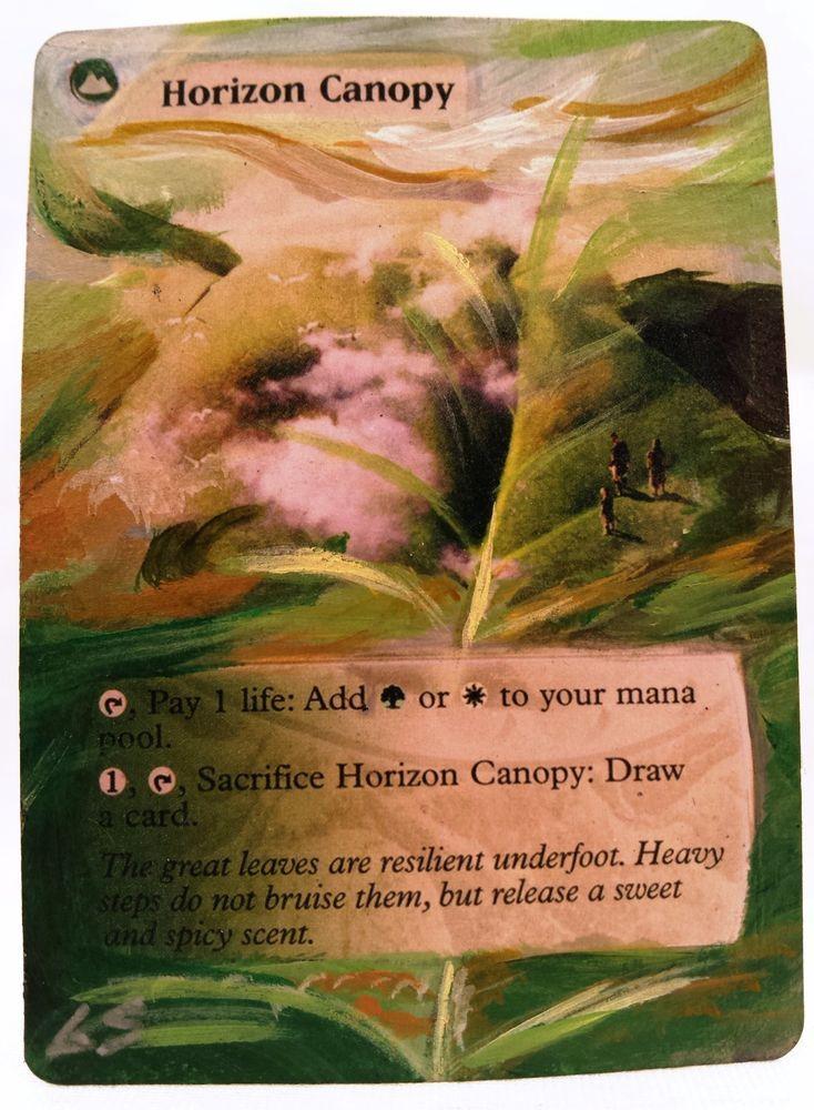 Horizon Canopy MTG Magic Altered Art Custom Hand Painted Hot Sexy Pimp OOAK OOP & Horizon Canopy MTG Magic Altered Art Custom Hand Painted Hot Sexy ...