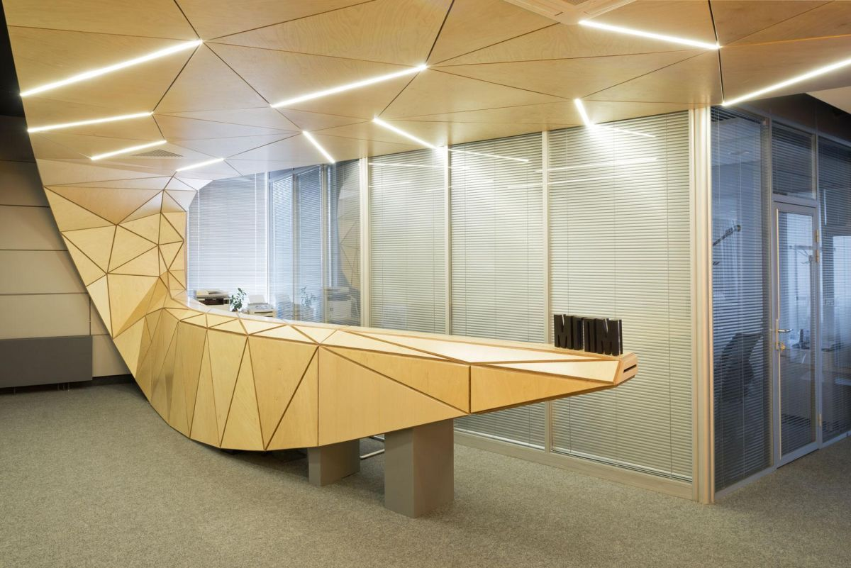 50 reception desks featuring interesting and intriguing for Office counter design