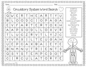 human body systems - mywordsearch.com