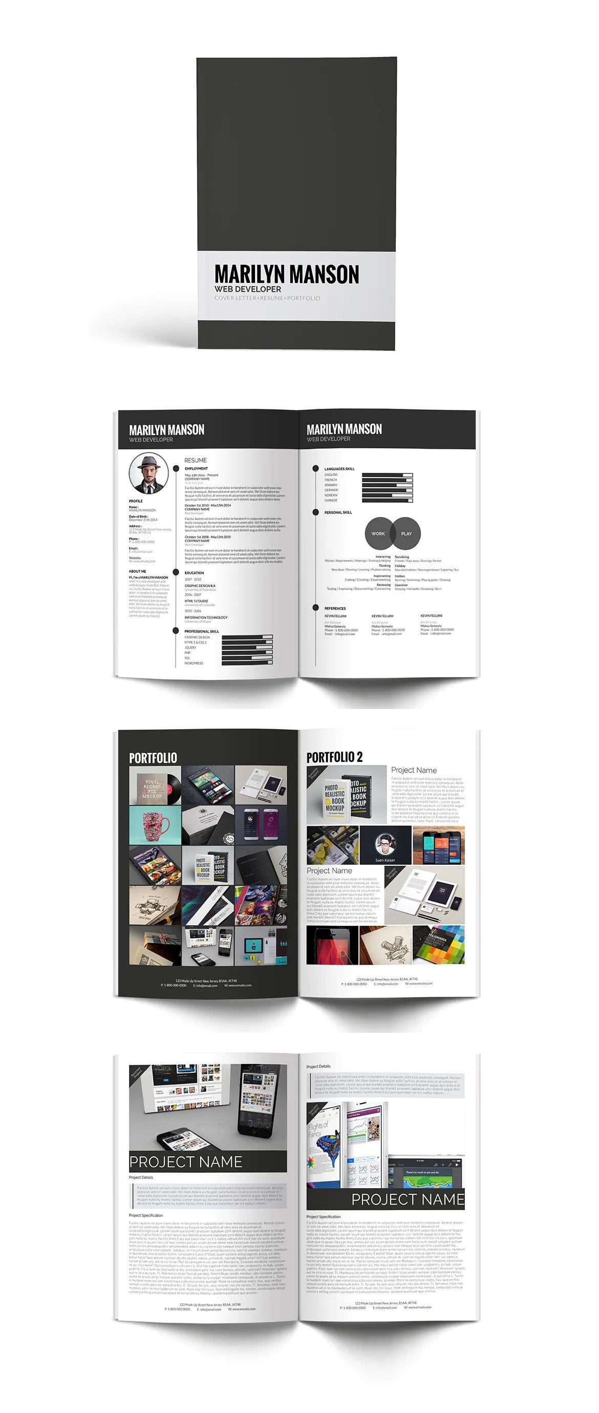 Resume Cv Portfolio by giantdesign on Resume cv, Cv