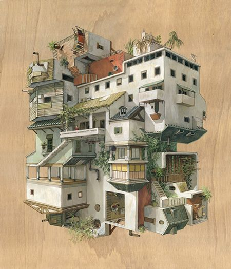 Illustrations Architecturales Surréalistes Par Cinta Vidal Agullo