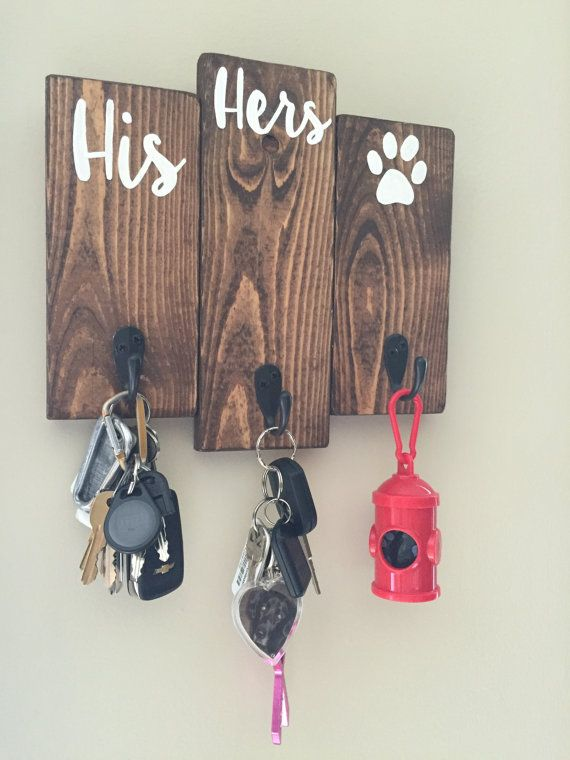 His, hers & the dogs / entryway key hooks  ships to us and canada ...