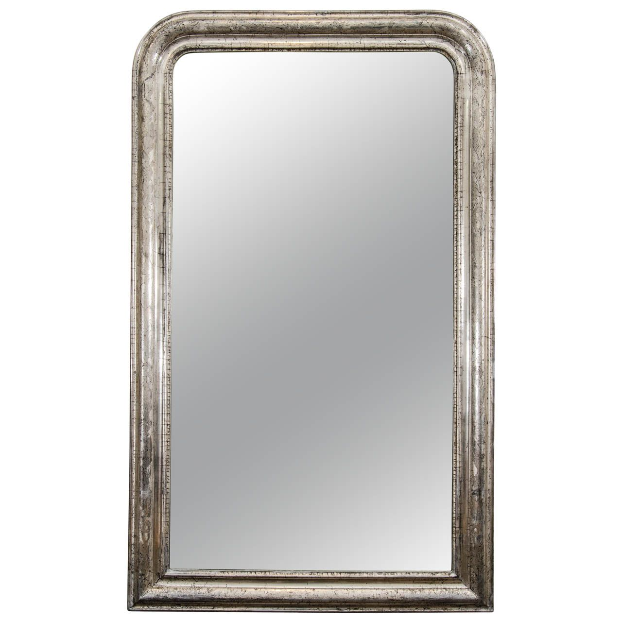 A Tall Louis Philippe Silvered Mirror | From a unique collection of antique and modern wall mirrors at http://www.1stdibs.com/furniture/mirrors/wall-mirrors/