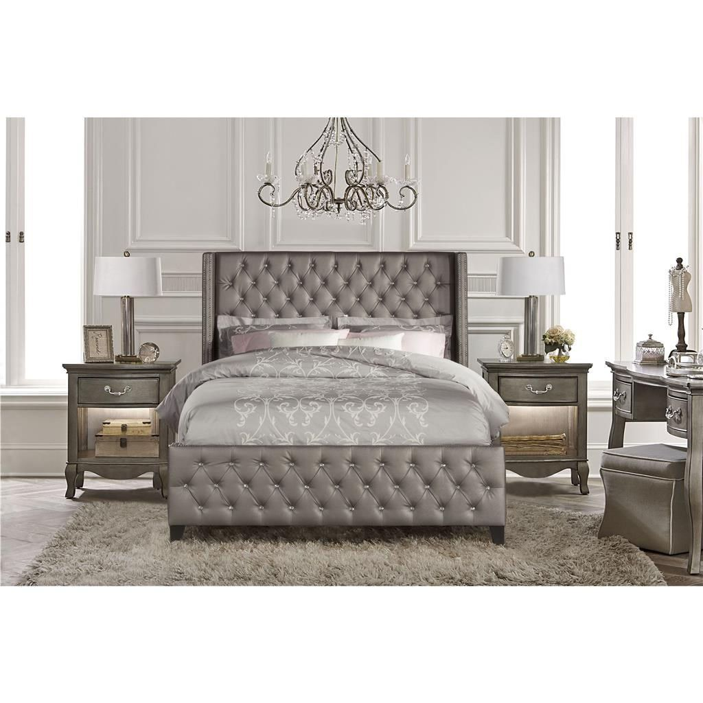 Hillsdale Furniture 1886BQR Memphis Queen Bed Set in Diva with Rail ...