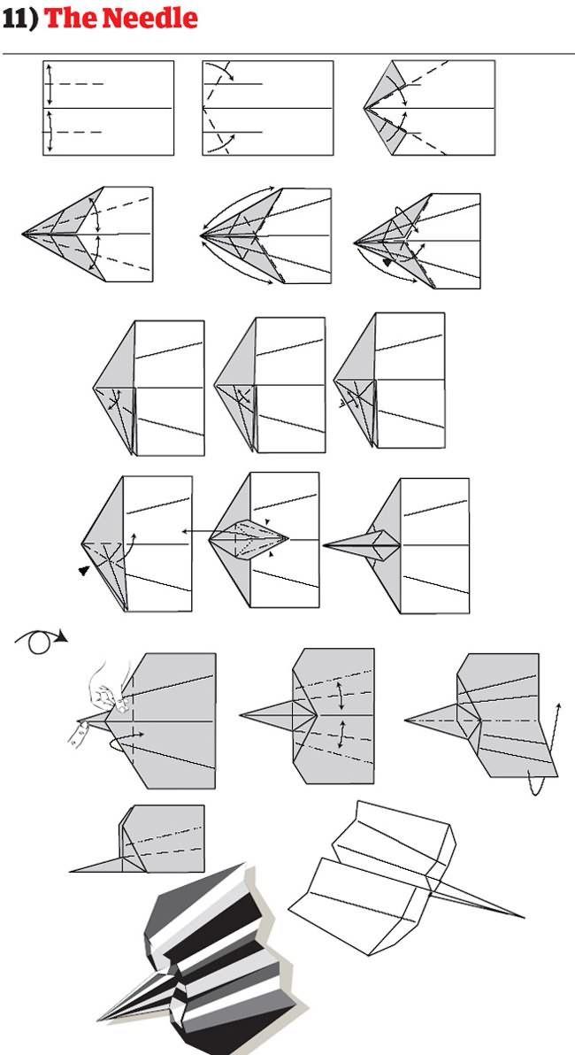 instruction avion papier mode emploi pliage 11 12 instructions pour ...