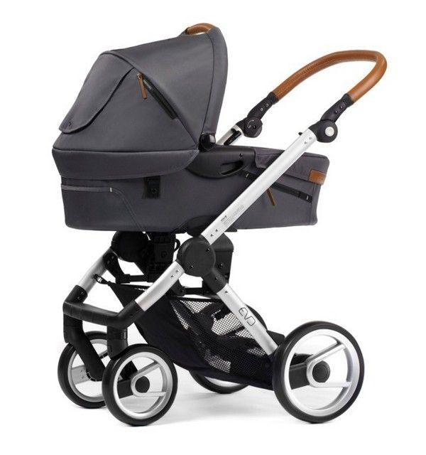 Mutsy Evo Urban Nomad Dark Grey Silver Frame Baby Strollers Jogging Baby Strollers Baby Carriage