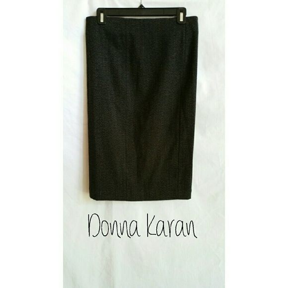 Donna Karan NY Straight Pencil Skirt  Size 6 Back zipper.   Wool, viscose,  elastane. Donna Karan Skirts Pencil