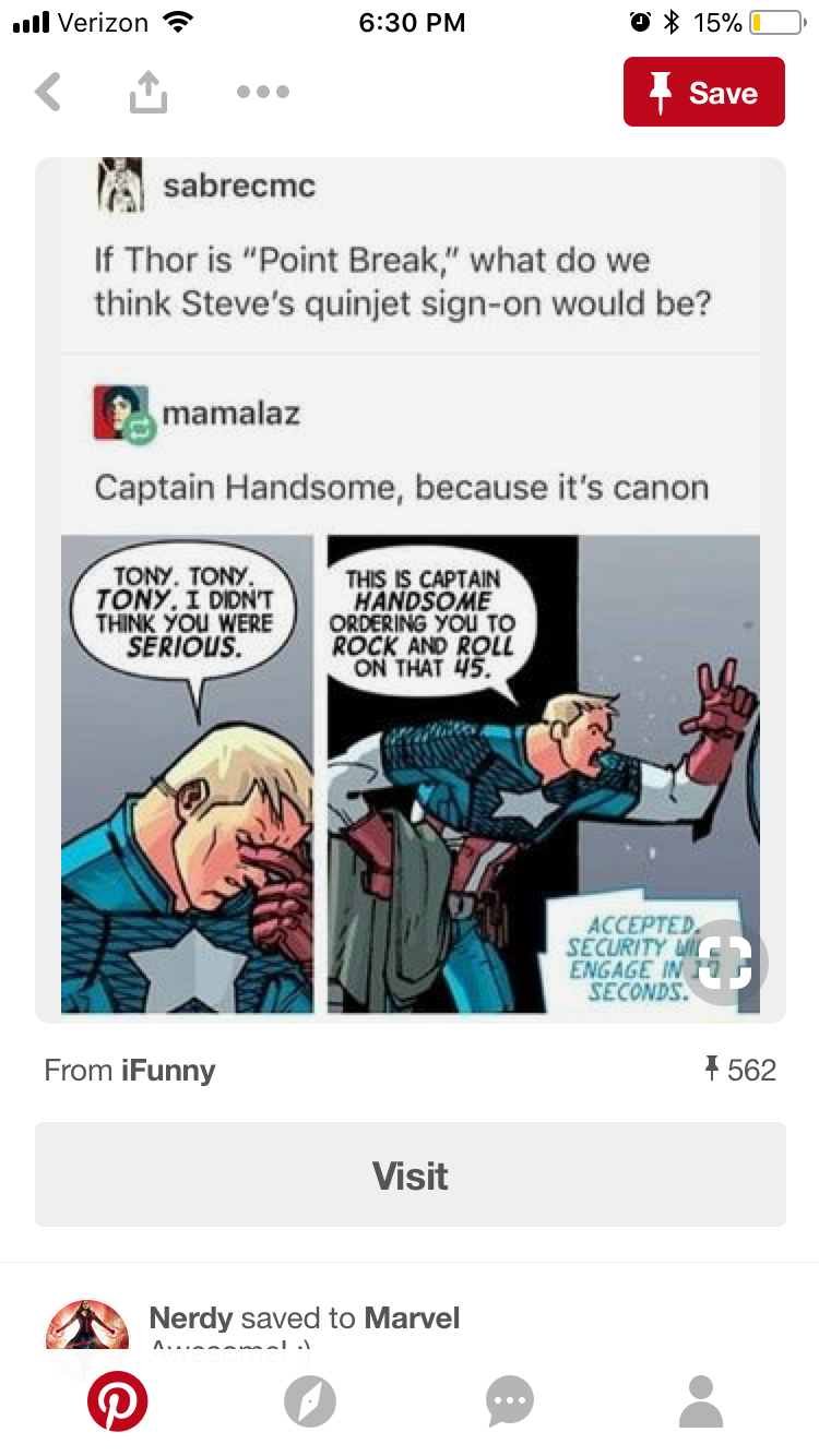 Captain Handsome XD But wait did Tony make those names