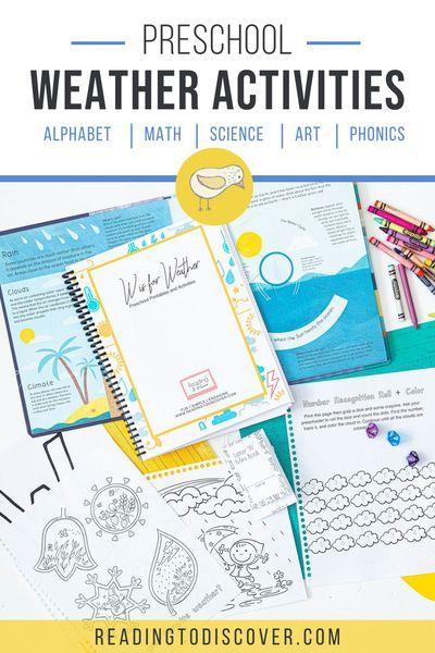 W is for Weather Preschool Activities | Etsy