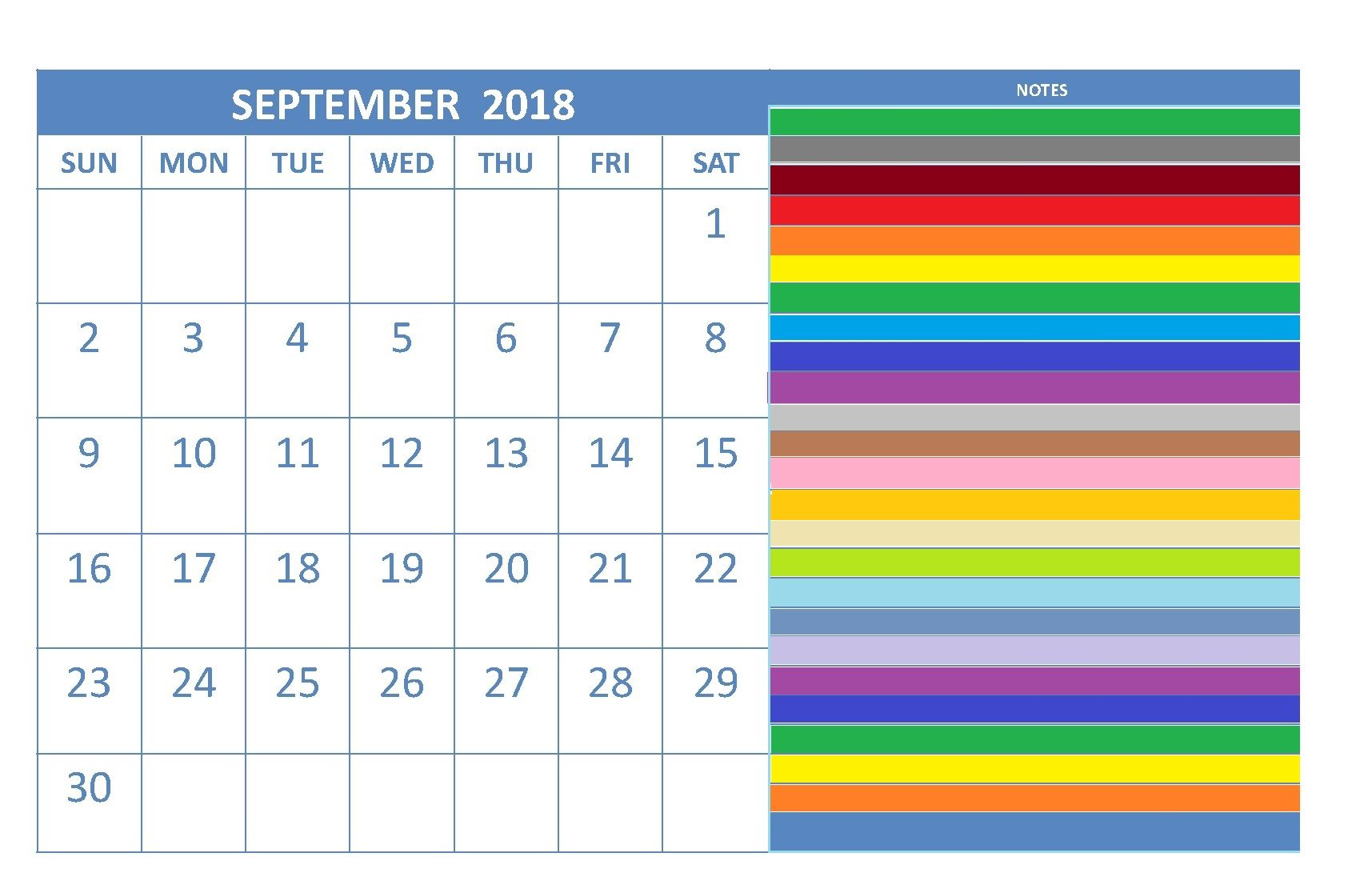 september 2018 calendar editable maxcalendars pinterest