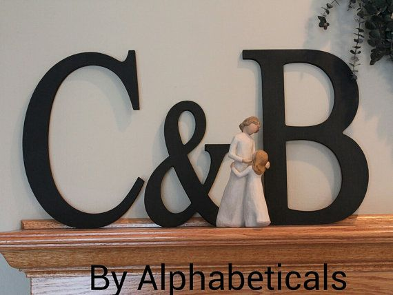 Initial Monogram Wall Decor Wooden Initials Wall by Alphabeticals ...