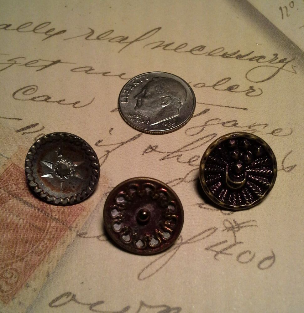 Small Antique Pewter Buttons. http://www.ebay.com/itm/Small-Antique-Pewter-Buttons-/252330350671