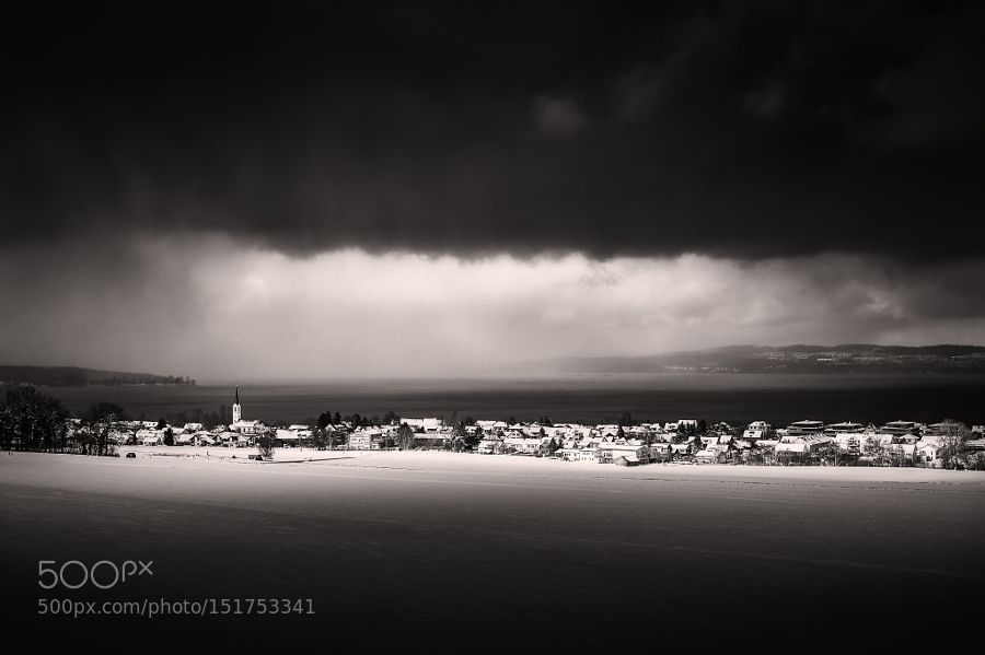 Storms on Lake Constance by franzengels Black and White Photography #InfluentialLime