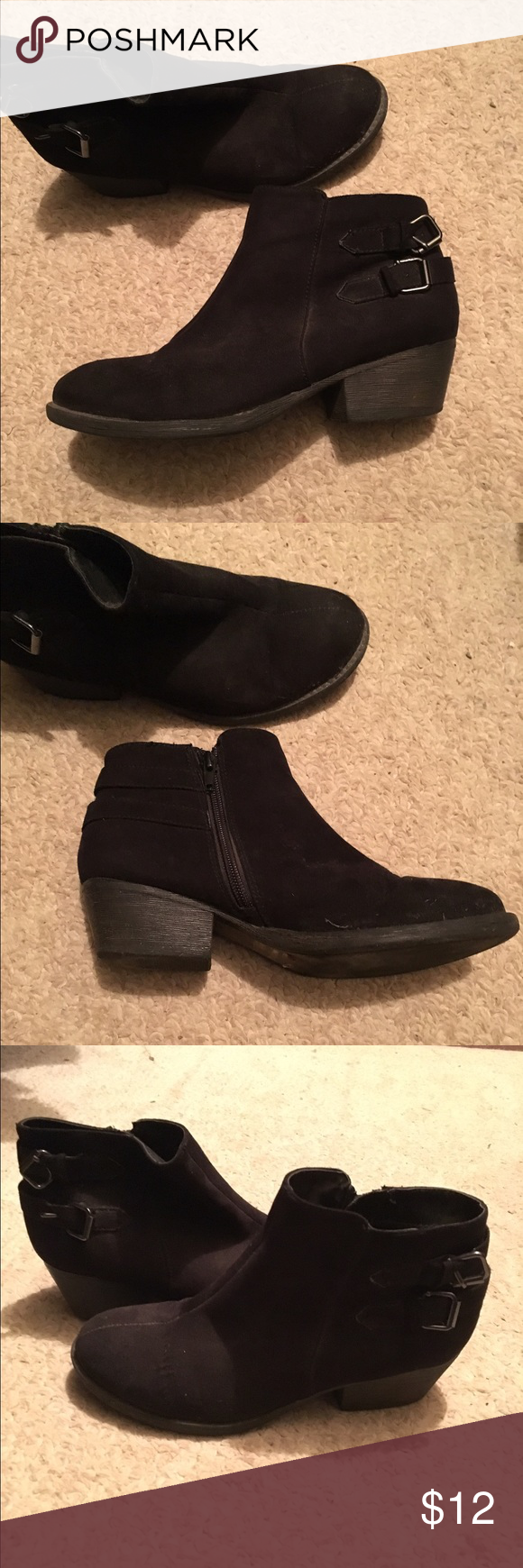Black Booties Lightly worn black heeled booties PacSun Shoes Ankle Boots & Booties