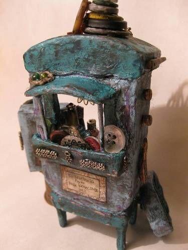 Gypsy Wagon Button Hoarder Altoid Tin Diorama - by crazyalien8