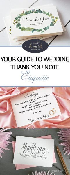 Your Guide to Wedding Thank You Note Etiquette Oh My Veil