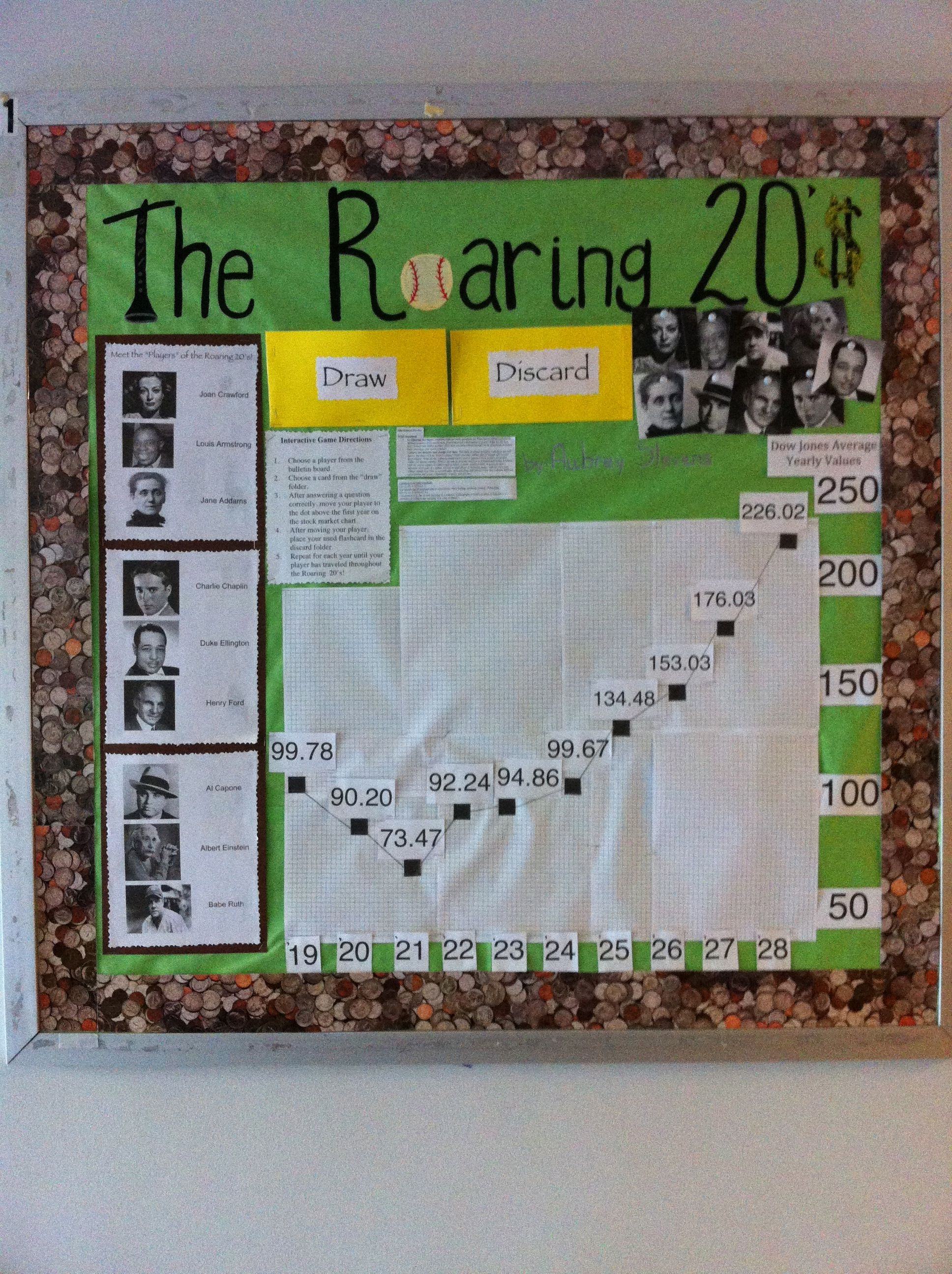 The Roaring 20 S Bulletin Board Students Get To Choose A