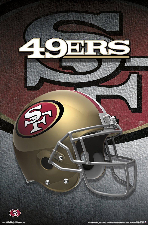 San Francisco 49ers Helmet Art 22x34 Football Poster 49ers Helmet Nfl Football Teams