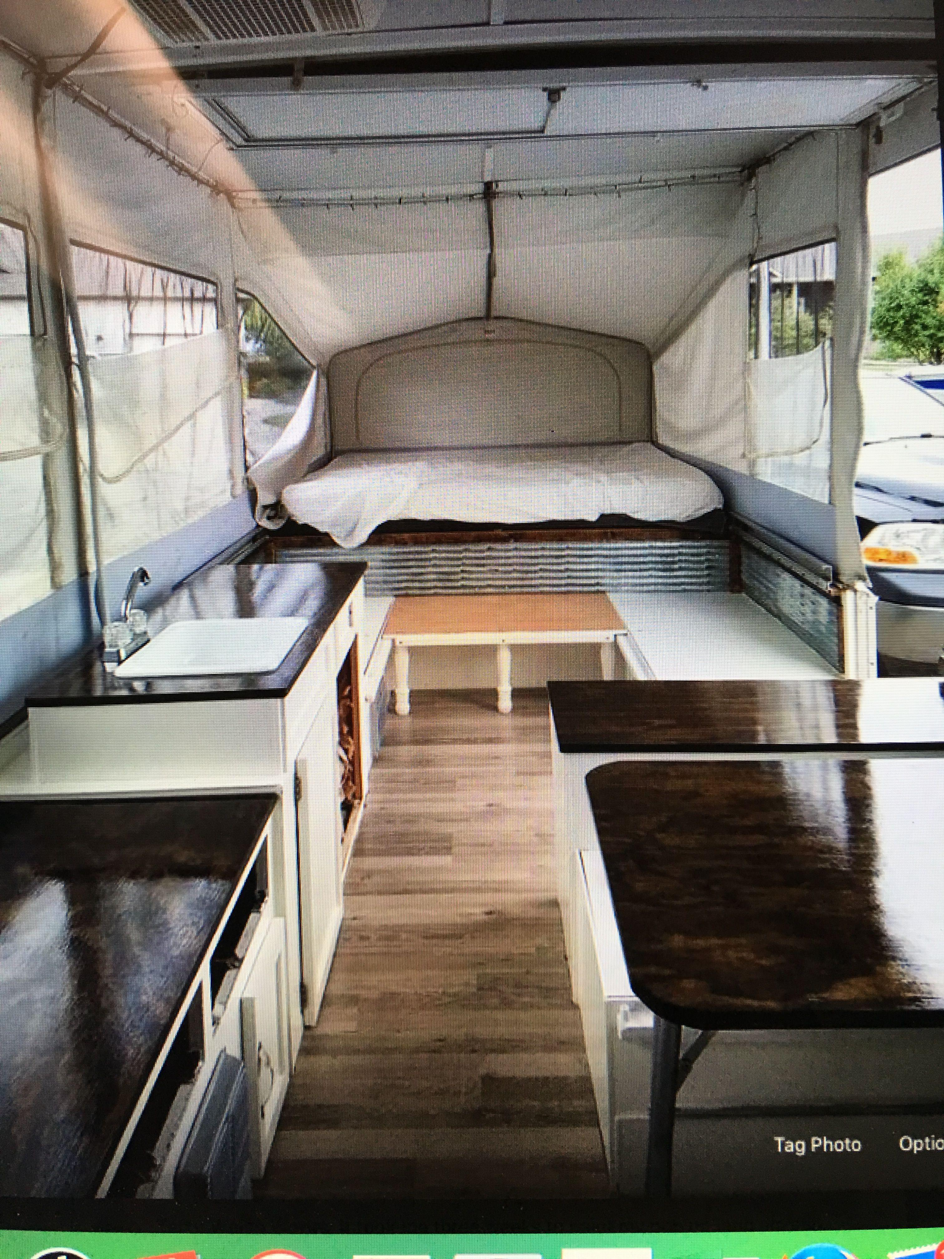 Love color | Outdoor life | Popup camper remodel, Diy camper