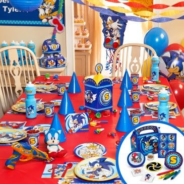 Sonic Party Decorations Sonic The Hedgehog Party Supplies Sonic Party Sonic Birthday Sonic Birthday Parties