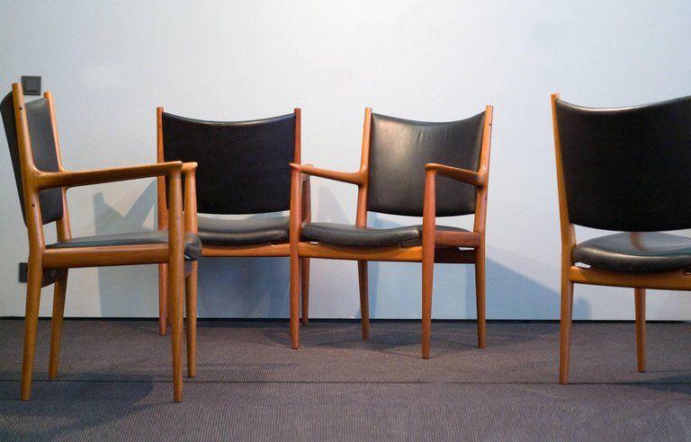Hans J Wegner Jh 513 Chair By Johannes Hansen Denmark Mahogany