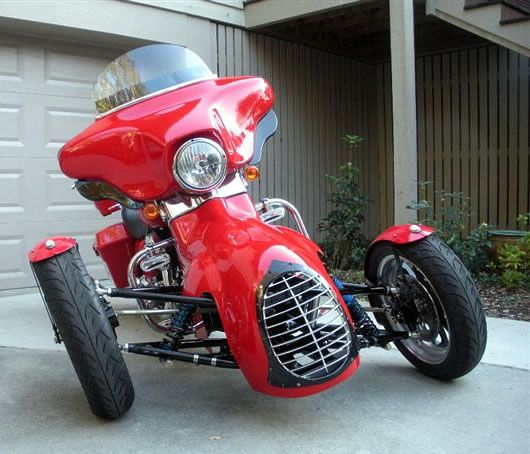 Trt The Tilting Reverse Trike Harley Conversion From Too Kool Cycles Trike Harley Reverse Trike Trike