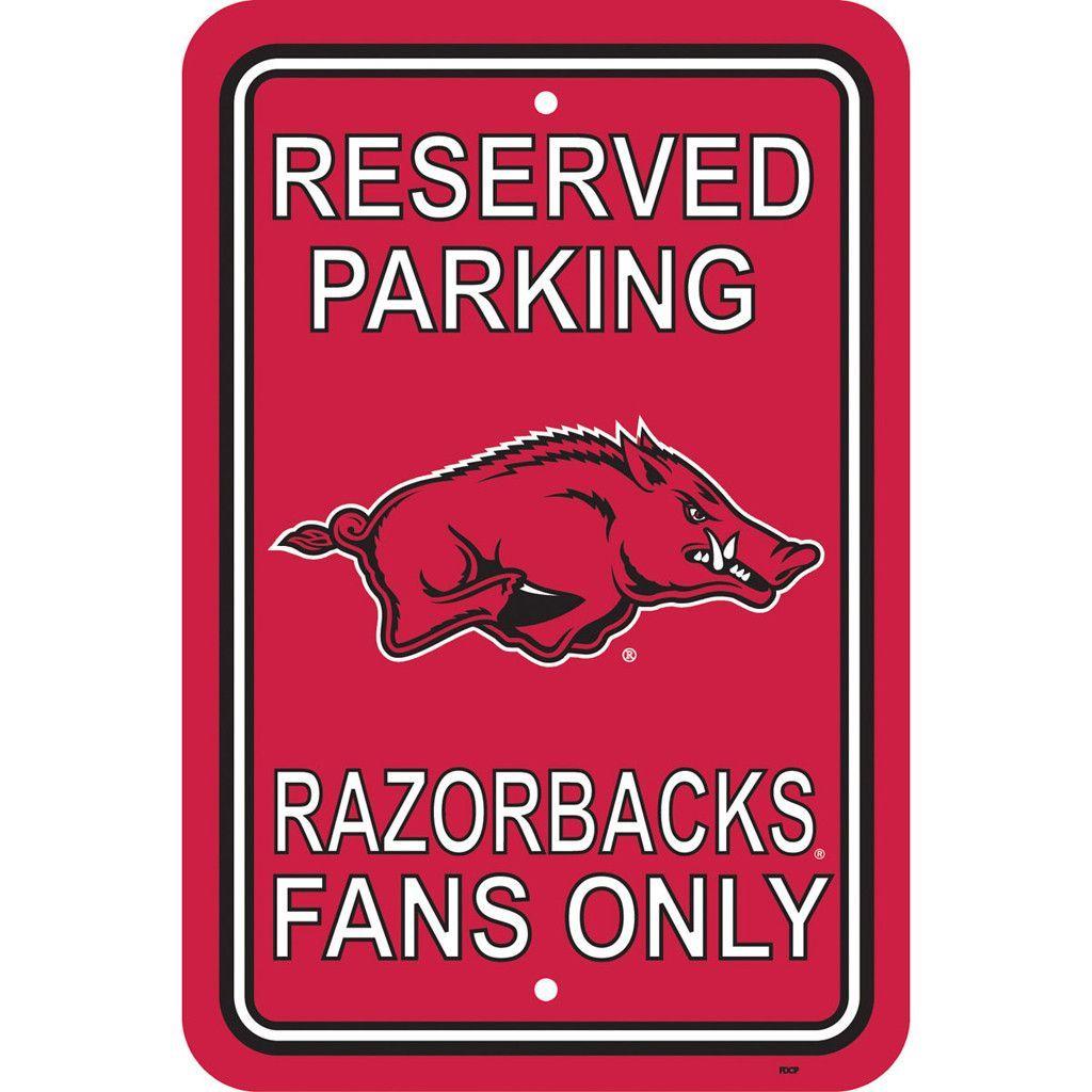 Arkansas Razorbacks Reserved Parking Sign