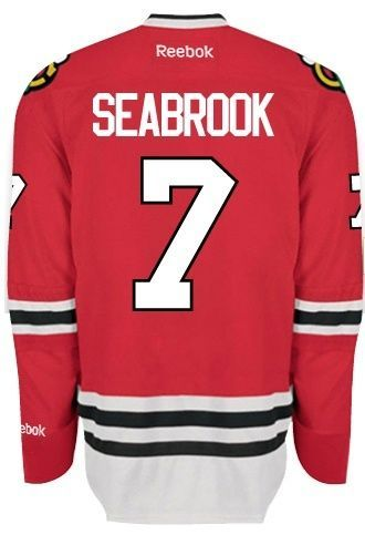 Chicago Blackhawks Mens Brent Seabrook Premier Home Jersey with AUTHENTIC  TACKLE-TWILL LETTERING 59e141e81