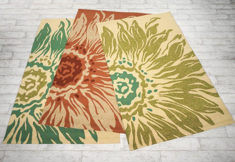 Sunflower Indoor/Outdoor Rugs - Acacia