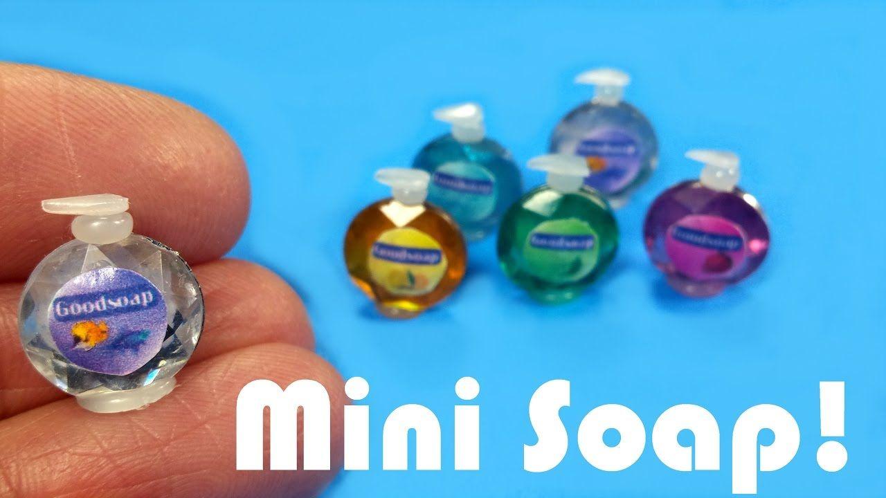 Cloison Salle De Bain Ossature Bois ~ Diy Miniature Softsoap Inspired Soap Dispensers Dollhouse Crafts