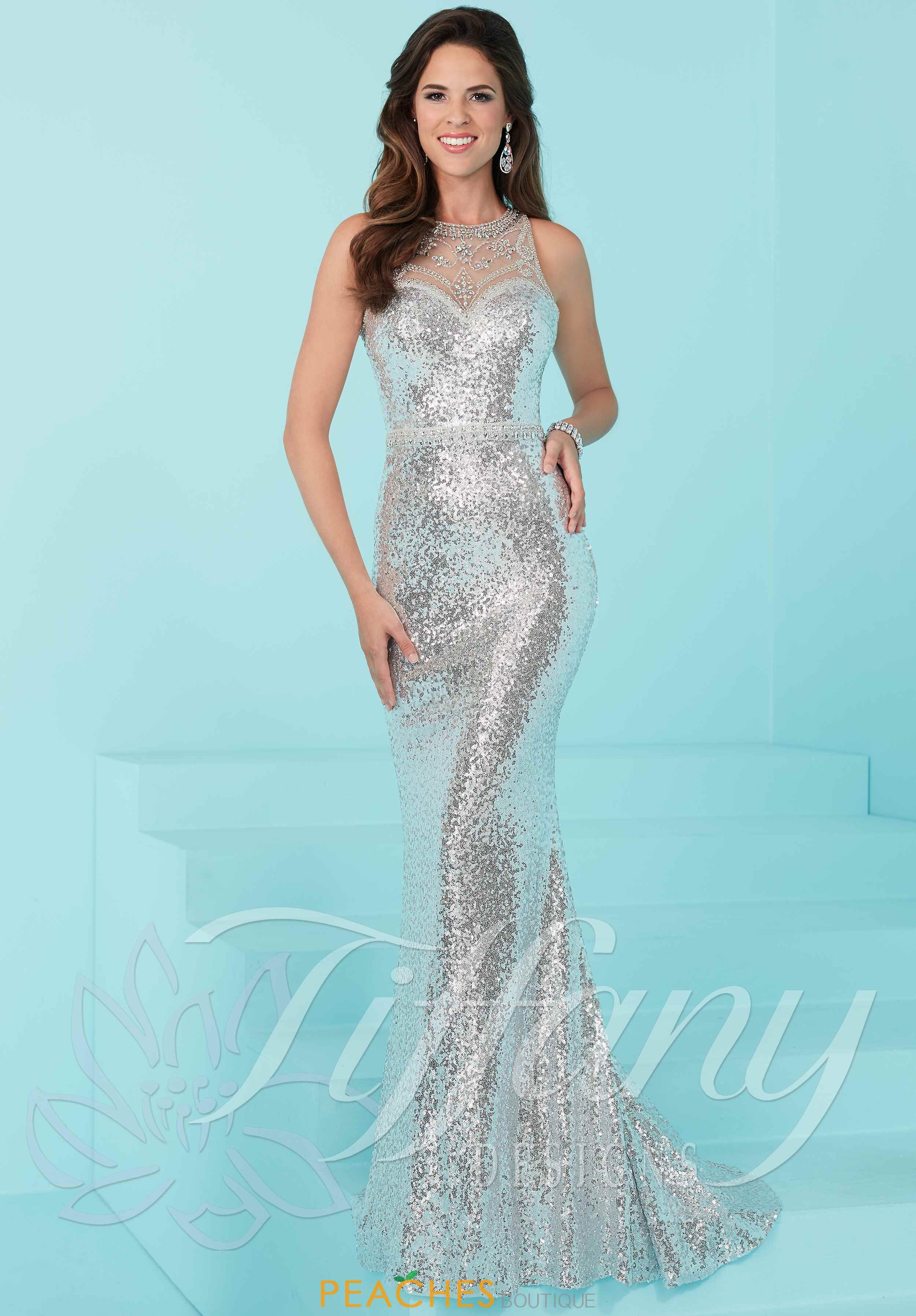 c417337318 Tiffany Long Beaded Dress 16220. Tiffany Long Beaded Dress 16220 Sequin Prom  Dresses ...