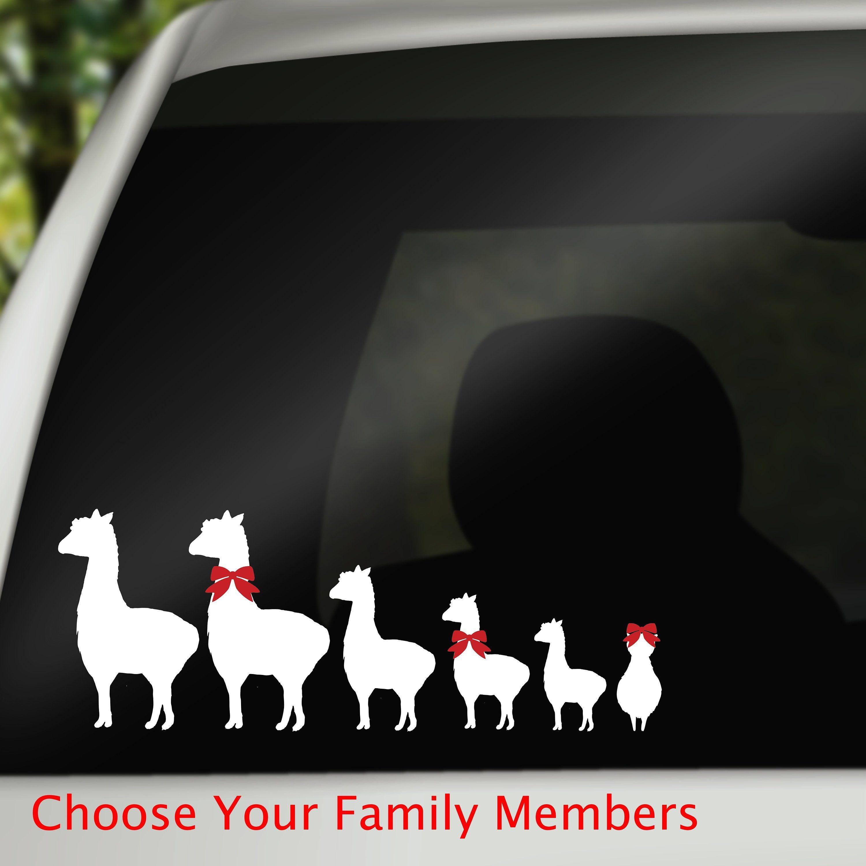Llama Family Car Window Decal Family Car Stickers Car Etsy Family Car Stickers Family Stickers Car Stickers [ 3000 x 3000 Pixel ]