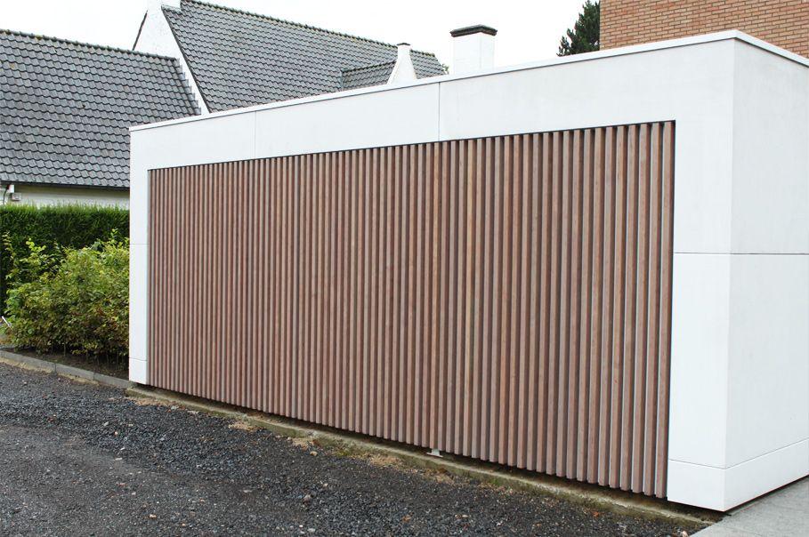 Realisatie gevelbekleding idee n voor het huis for Porte de garage simon