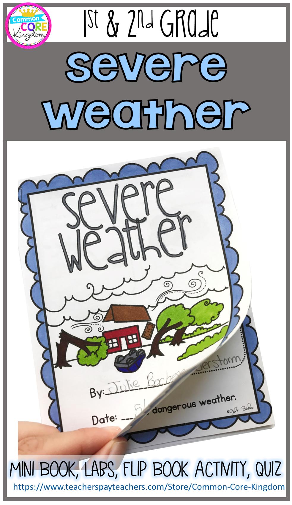 Severe Weather Storms Mini Unit 1st 2nd Grade Common