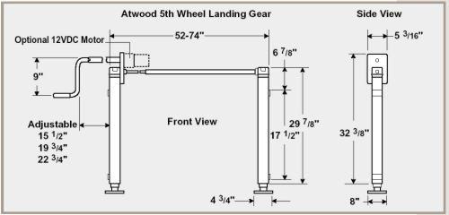 diagram of rv landing gear rv landing gear, gears, diagram fifth wheel  parts diagram
