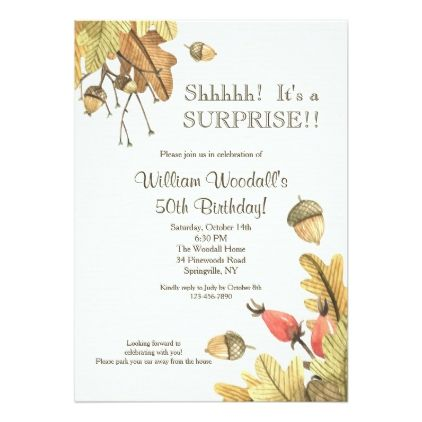 Autumn Celebration Invitation  Celebrations Party Gifts And