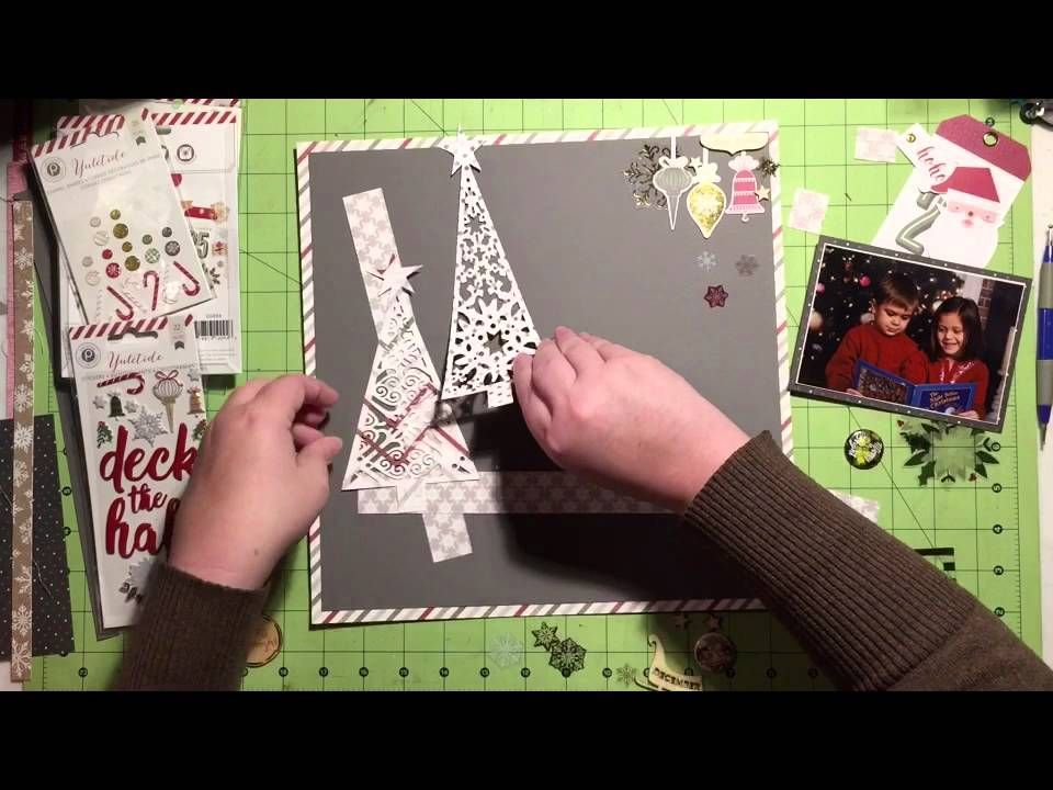 Scrapbooking Process Video: Holly Jolly