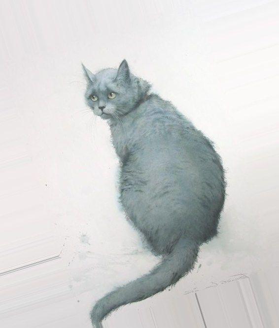 нарисованные коты - Bing Изображения