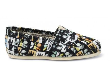 Another pair of Dan Eldon-inspired TOMS...this time with some of his journal artwork on them.