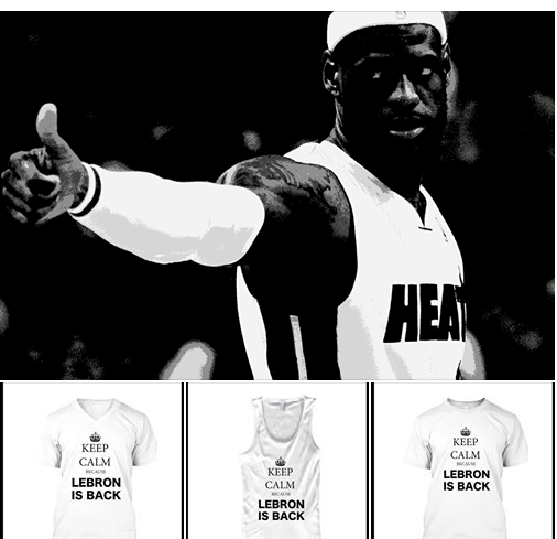 Limited Edition Keep Calm Because Lebron is Back Tee designed by JM MMXIV.  The King is Back!   Get now an unique Lebron is Back Shirt.  IMPORTANT: These shirts are only available 7 Days. Act Fast!  American Apparel Crew ($18.00)    teespring.com/thekingisbackjm